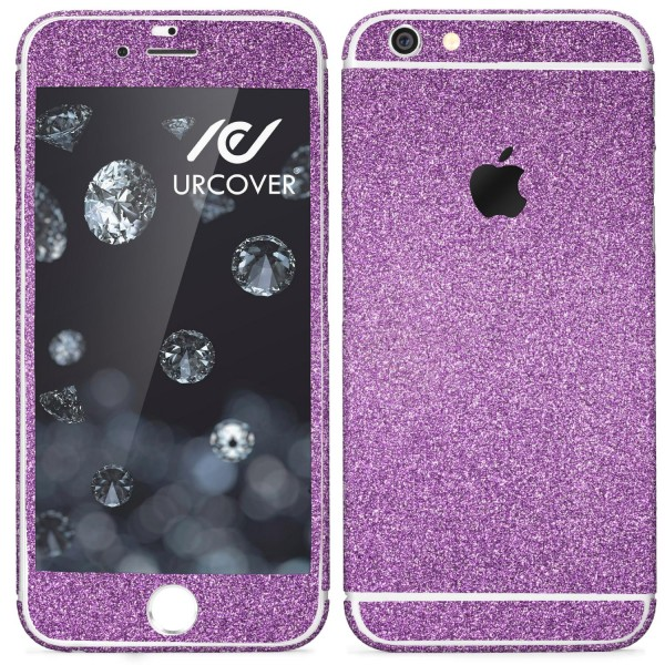 Apple iPhone 6 / 6s Glitzer Folie Diamond Design Handy Aufkleber Schutz Bling