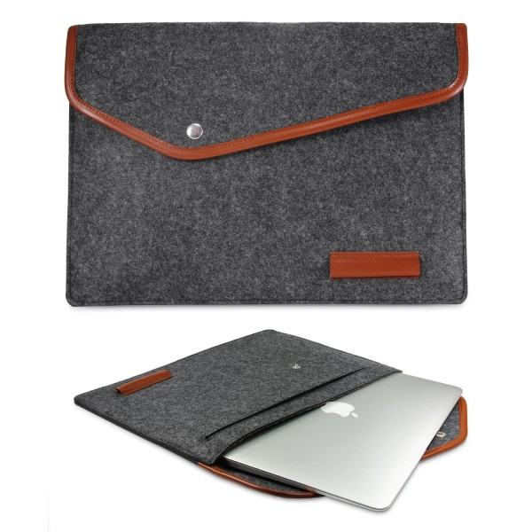 Urcover® Universal 11,6 Zoll Laptop Tasche Smart Case Cover Sleeve Grau/Beach