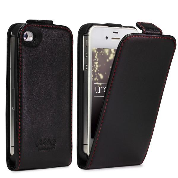Apple iPhone 4 / 4s Handgemachte Echt Leder Schutz Hülle Case Cover Etui Tasche
