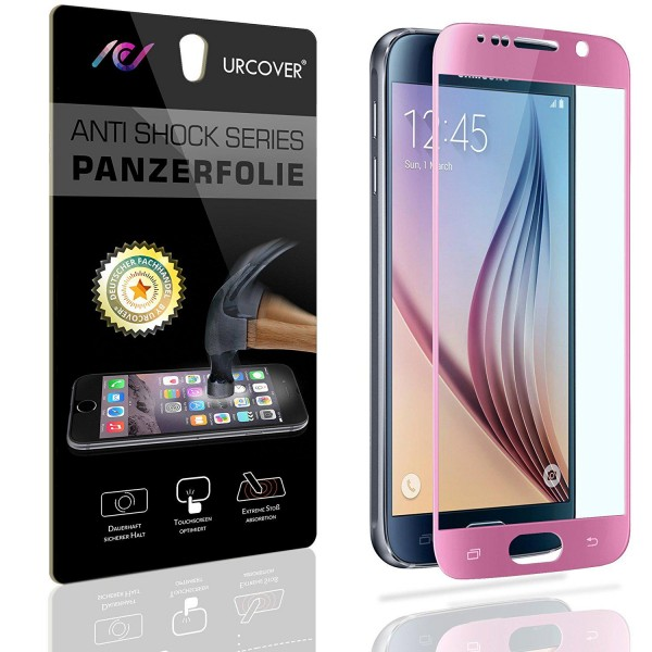 Samsung Galaxy S6 Echt Glas Panzer Display Schutz Folie Klar Ultra Slim Clear