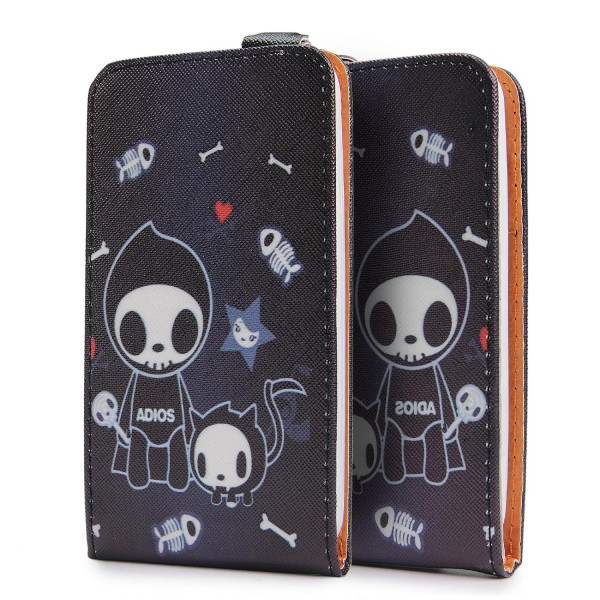 Urcover® Wiko Goa Kunststoff Schutzhülle Case Cover Tasche Flip Wallet Etui