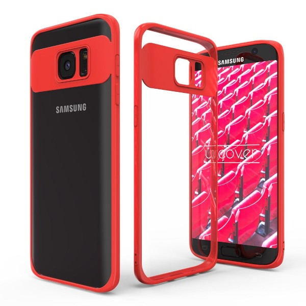 Urcover® Samsung Galaxy S7 Edge Simply Back Case Schale farbiger Rand Handyhülle
