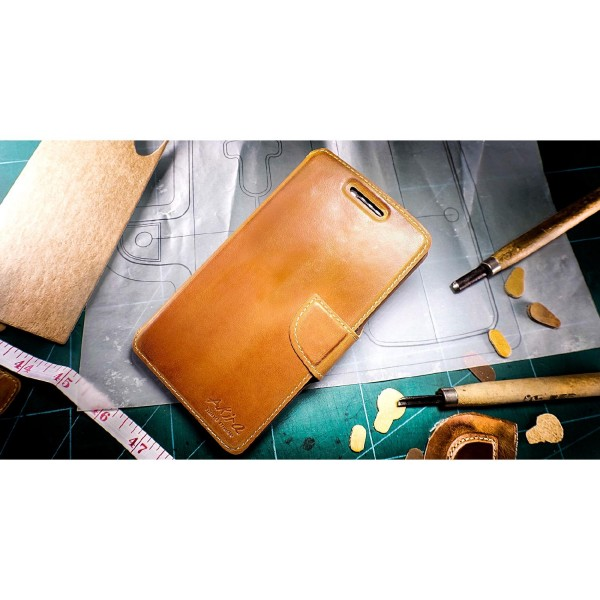 Akira Hand Made Leder Handy Schutz Hülle Case Cover Wallet Nokia Lumia 930