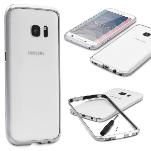 Samsung Galaxy S7 Alu Bumper Schutzhülle Schraubversion Schutz Rahmen Hülle