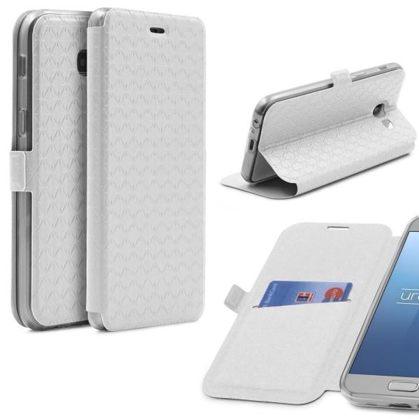 Samsung Galaxy A5 (2017) Klapp Handy Schutz Hülle Sichtfenster Kartenfach Case