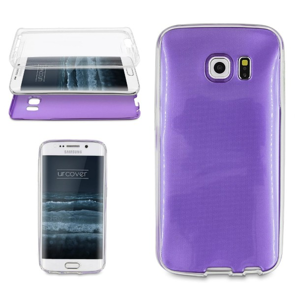 Samsung Galaxy S6 Edge Plus 360 GRAD RUNDUM SCHUTZ Metalloptik Hülle Cover Case