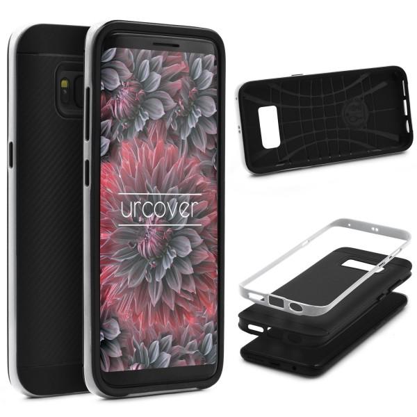 Samsung Galaxy S8 Plus Back Case Carbon Style Cover Dual Layer Schutzhülle TPU
