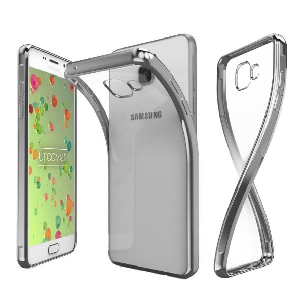 Samsung Galaxy A3 (2016) Hülle Spiegelrand klar Slim Cover Tasche Back Case Etui