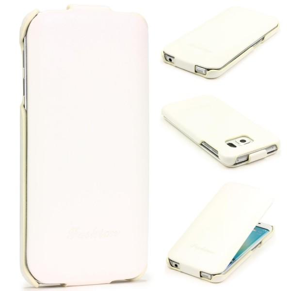 Samsung Galaxy S6 Edge Flip Handy Schutz Hülle Case Cover Schale Tasche