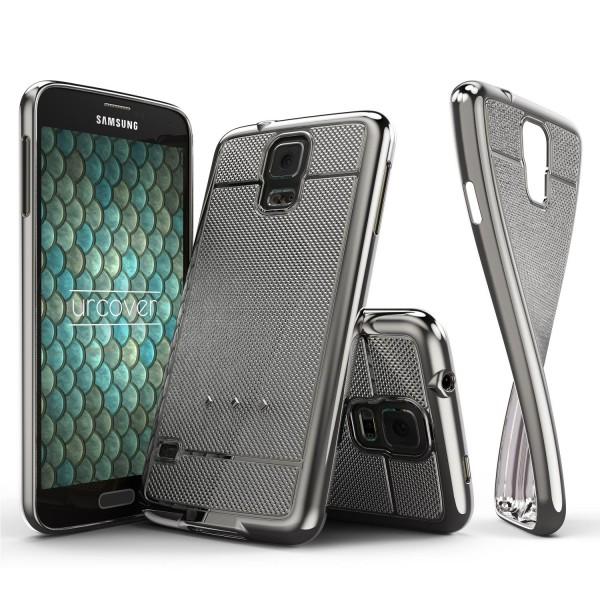 Urcover® Samsung Galaxy S5 Schutz Hülle Metall Optik Silikon Soft Back Case