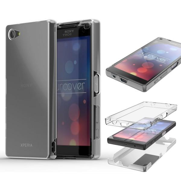 Sony Xperia Z5 Compact TPU Case 360 Grad Schutz Hülle Etui Cover Touch Case klar