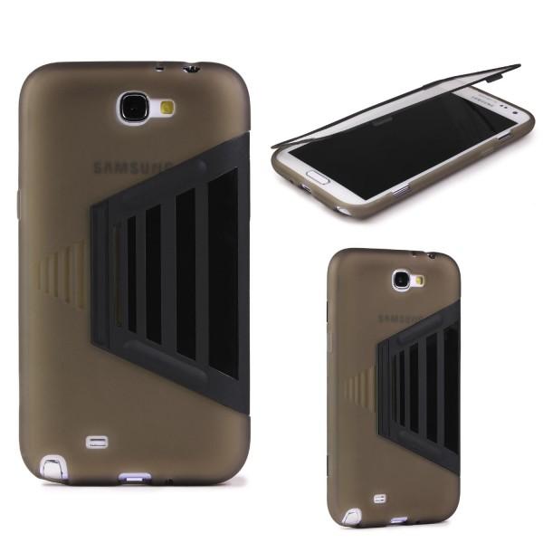 Samsung Galaxy Note 2 TOUCH CASE Displayschutz Hülle Schale Rundum Cover Tasche