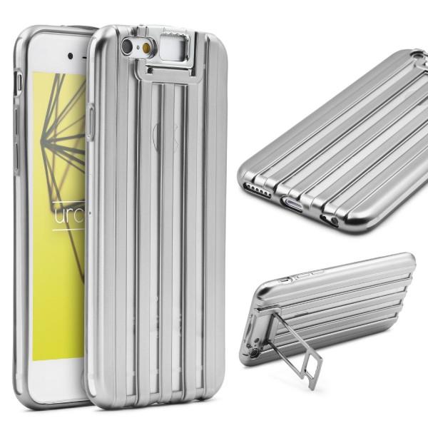 Urcover® Apple iPhone 6 Plus 6s Plus TPU Backcase Schutzhülle Metall Optik Case