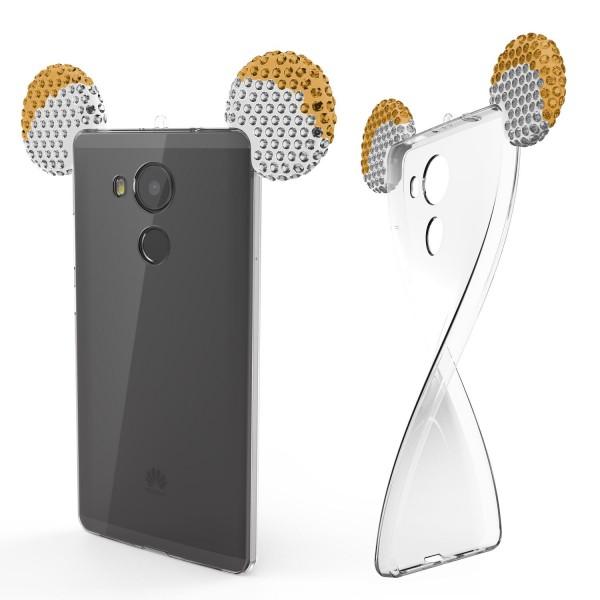 Huawei Mate 8 Maus Strass Ohren Bling Ear Schutz Hülle Glitzer Cover Case