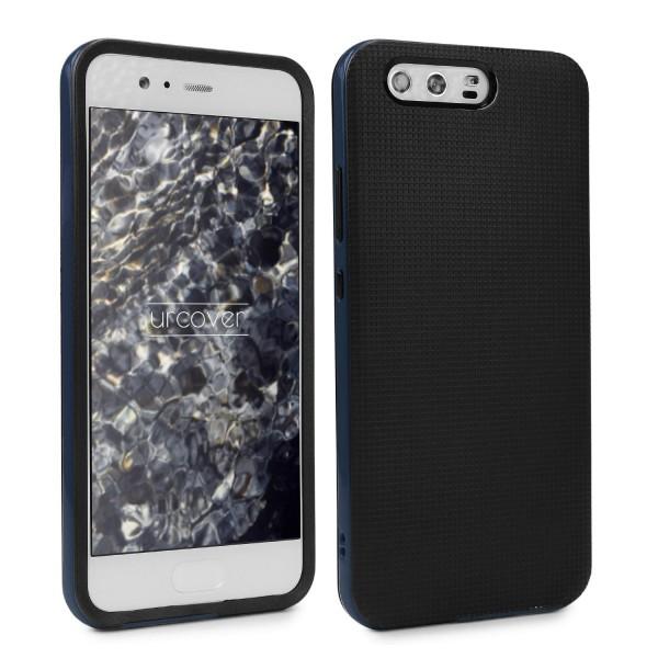 Huawei P10 Schutz Hülle Carbon Style Karbon Optik TPU Case Cover Etui Bumper