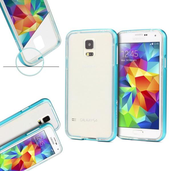 Urcover® Samsung Galaxy S5 Schutzhülle Aluminium Ecken Schutz Bumper Case Cover