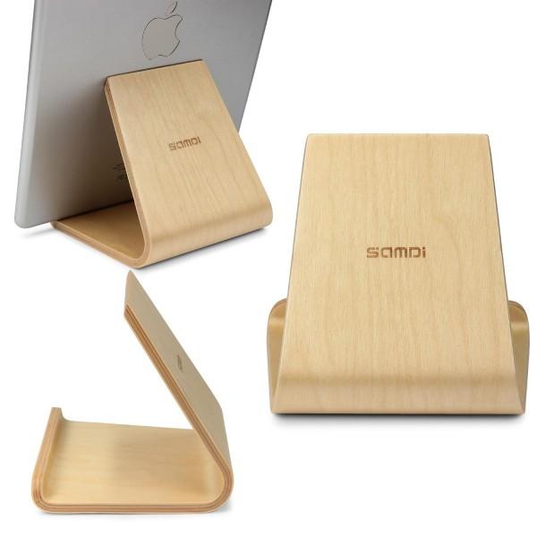 Urcover® Echt Holz Ständer Halter Halterung für Tablet Laptop Notebook Netbook