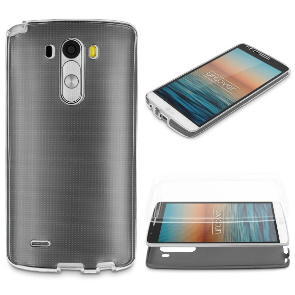 LG G3 360 GRAD RUNDUM SCHUTZ Metalloptik TPU Slim Hülle Cover Case Etui Schale