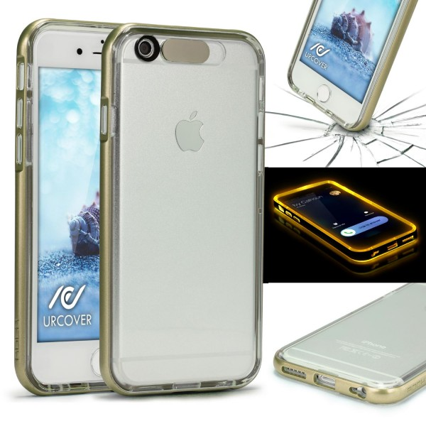 Urcover® Apple iPhone 6 / 6s Schutz Hülle mit Flash-Funktion Case Cover Silikon