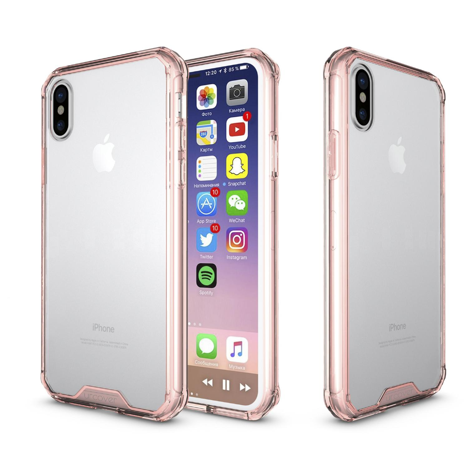 Urcover Apple iPhone X Handy Schutz Hülle ULTRA SLIM Case Cover klat transparent Schale Silikon Backcase iPhone X Xs iPhone Apple