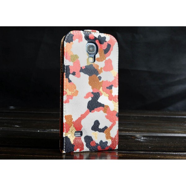 Urcover Samsung Galaxy S4 Mini Kunststoff Flip Schutzhülle Tarn Optik Case Cover