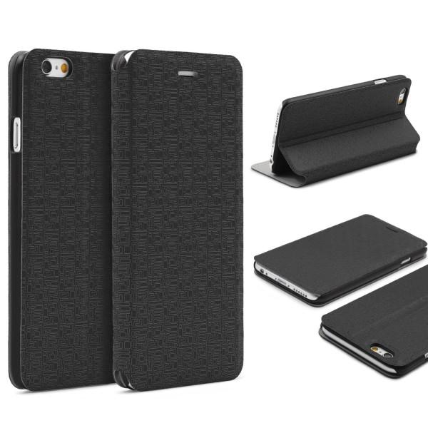 Urcover® Apple iPhone 6 / 6s Schutz Hülle Flip Case Cover Booksyle Wallet Tasche