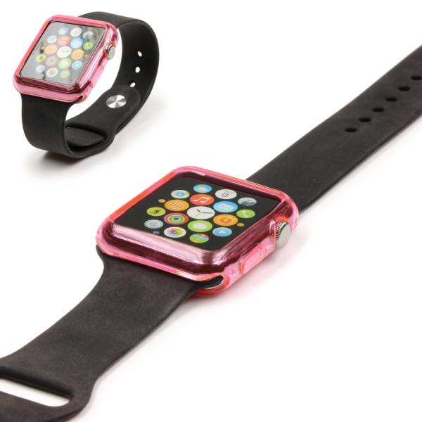 Urcover® Apple Watch 42mm Schutzhülle Silikon TPU Smart Watch Case Cover Silikon