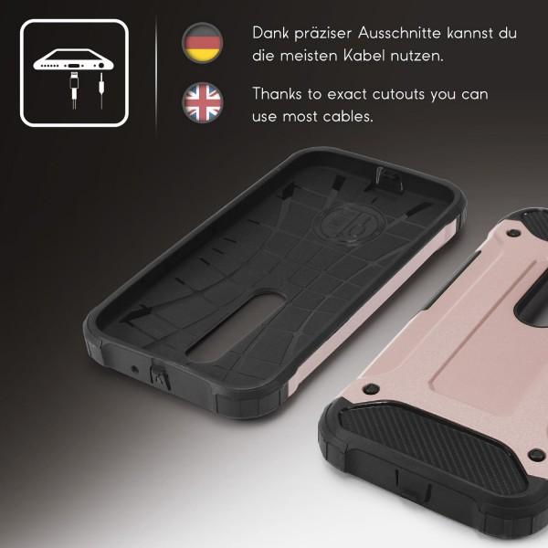 Motorola Moto G3 OUTDOOR Schutz Hülle TOP Cover Back Case Carbon Optik Etui