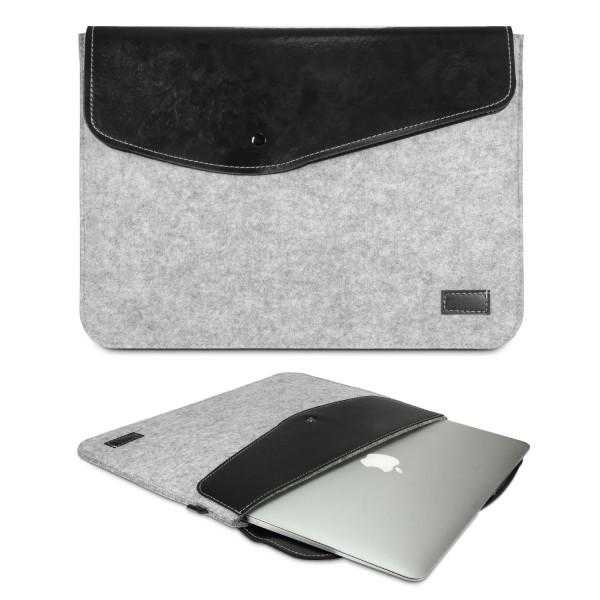 Urcover® Universal 11,6 Zoll Laptop Tasche Smart Case Cover Sleeve Grau/Beach