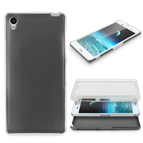 Sony Xperia Z3 360 GRAD RUNDUM SCHUTZ Metalloptik TPU Handy Hülle Cover Case