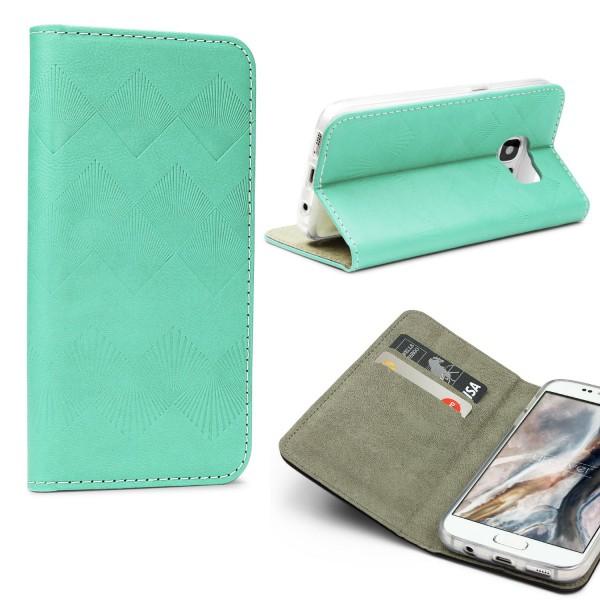 Urcover® Samsung Galaxy S7 Wallet Schutz Hülle Flip Case Cover Etui Schale