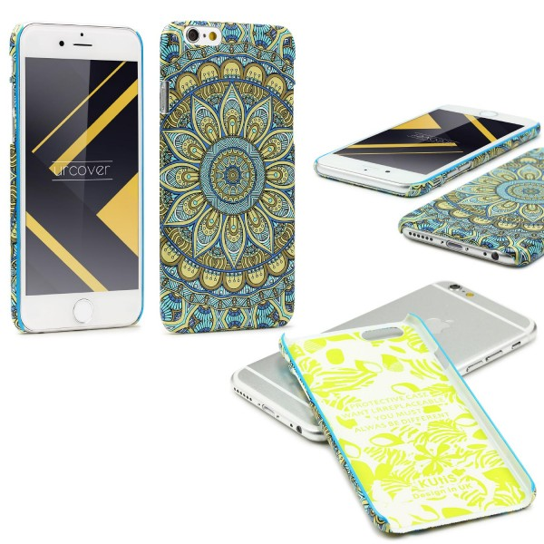 Urcover® Apple iPhone 6 / 6s Mandala Schutz Hülle Back Case Cover Schale Etui