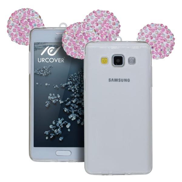 Samsung Galaxy A3 (2015) Maus Strass Ohren Bling Ear Schutz Hülle Glitzer Cover