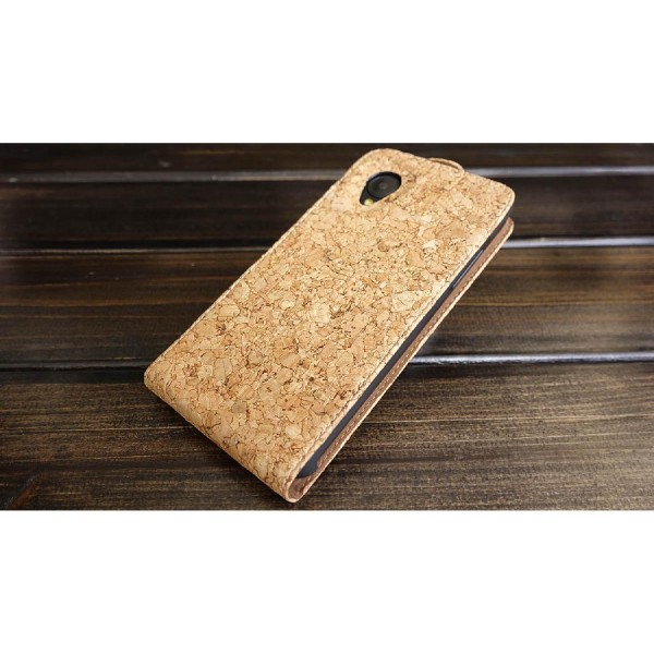 Urcover® LG Nexus 5 Kork Schutz Hülle Flip Wallet Case Cover Schale Etui Tasche