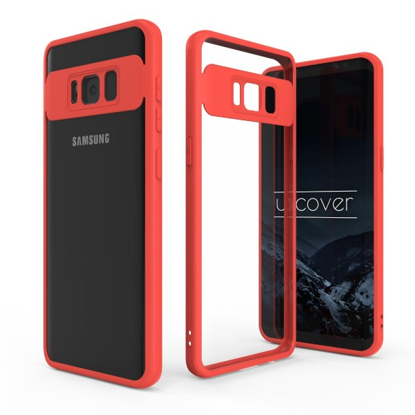 Urcover® Samsung Galaxy S8 Simply Back Cover Schale farbiger Rand Handyhülle