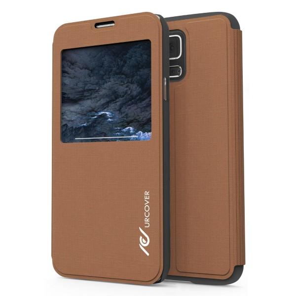 Samsung Galaxy S5 Urcover® View Case Schutz Hülle Wallet Cover Etui Tasche