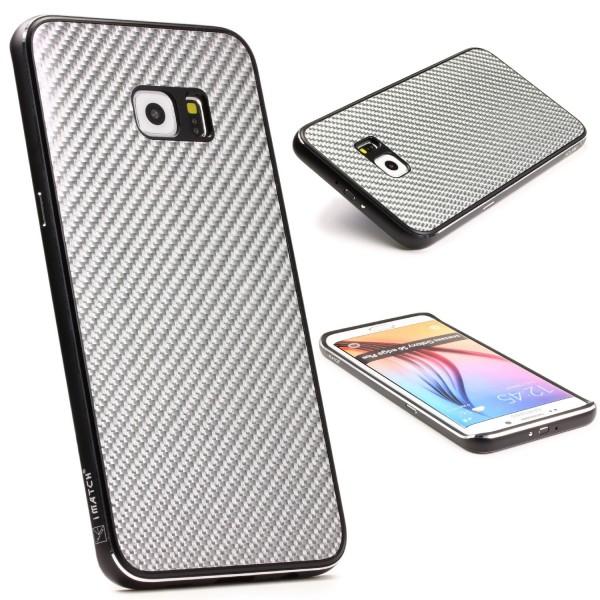 Samsung Galaxy S6 Edge Plus Echt Carbon Back Case Handy Schutz Hülle Bumper Alu