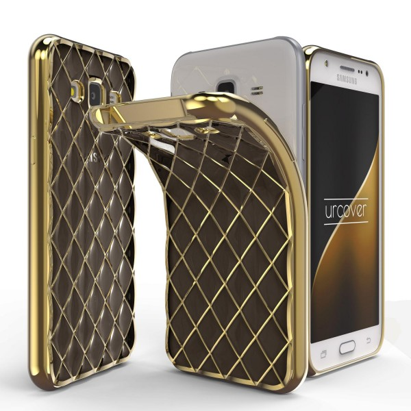 Urcover® Samsung Galaxy J3 (2015) Schutz Hülle Quilted Diamond Design Case Cover
