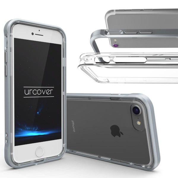 Urcover Apple iPhone 7 Schutzhülle Aluminium Ecken Schutz Bumper Case Cover Etui