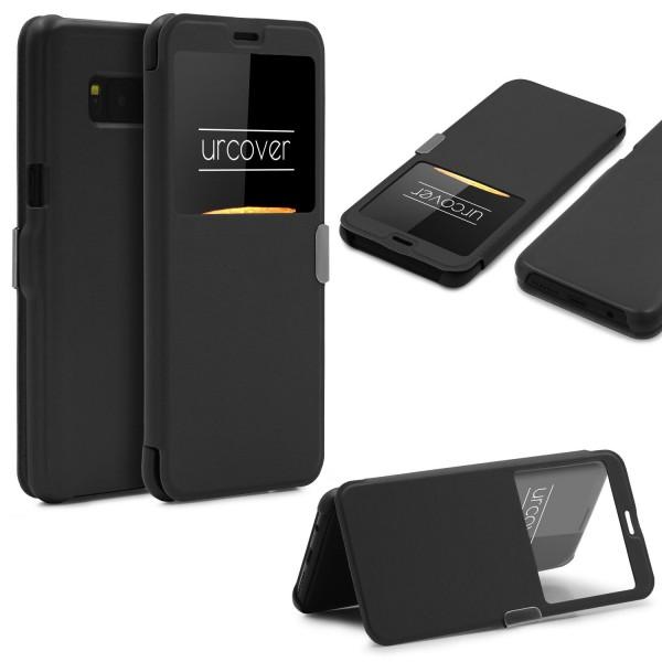 Samsung Galaxy S8 Wallet View Case Schutz Hülle Sichtfenster Cover Etui Flip