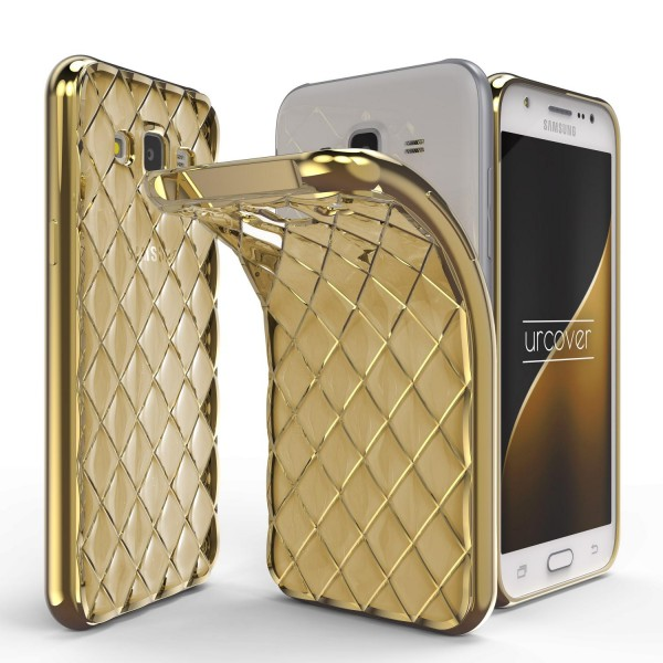Urcover® Samsung Galaxy J3 (2015) Schutz Hülle Quilted Diamond Design Case Cover