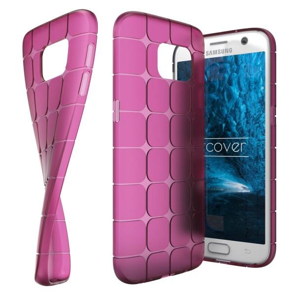 Urcover® Samsung Galaxy S7 TPU Chocolate Back Case klar Schutz Hülle Cover