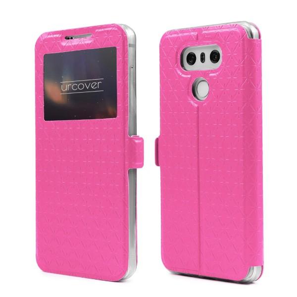 Urcover® LG G6 Sichtfenster Wallet Handy Schutz Hülle View Cover Flip Case Klapp Etui