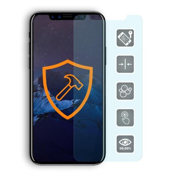 Echt Glas 9H Premium Panzer Display Schutz Folie für Apple iPhone X Crystal Clear