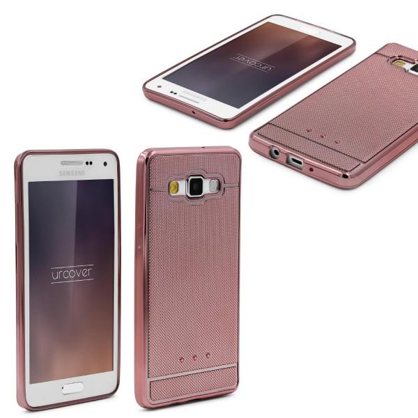 Urcover® Samsung Galaxy A7 (2015) Schutz Hülle Metall Optik Silikon Soft Case