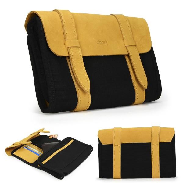 Urcover® Premium Kunstleder Reise Beutel Reisetasche Tasche / Camel