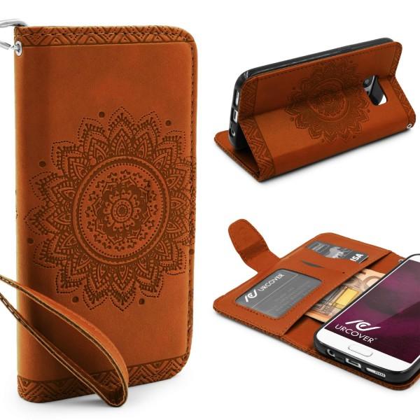 Samsung Galaxy S7 Schutz Hülle Wallet Klapp Schale Lotus Pattern Case Cover
