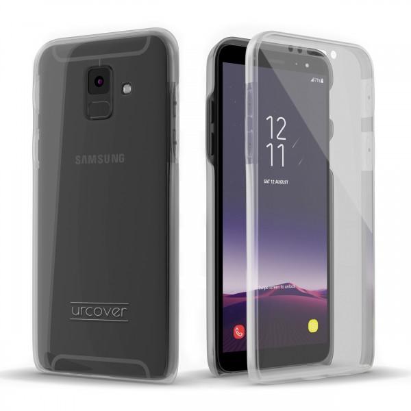 Urcover Samsung Galaxy A6 (2018) Touch Case 2.0 Hard Edition berühmt durch Galileo Rundum 360° Crystal Clear Schutzhülle