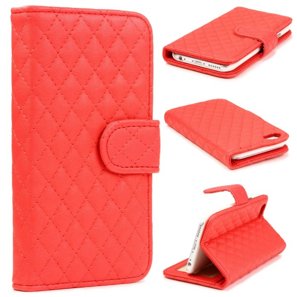 Urcover® Apple iPhone 6 Plus / 6s PlusSteppmuster Schutzhülle Wallet Flip Etui
