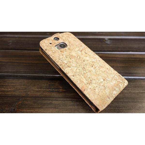 Urcover® HTC One M8 Kork Schutz Hülle Flip Wallet Case Cover Schale Etui Tasche